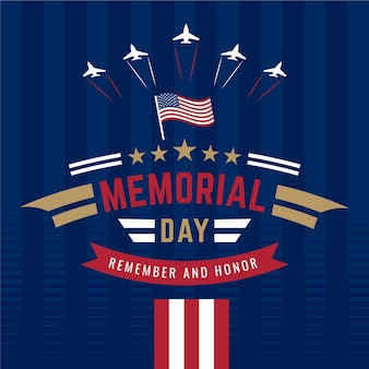 Nationale amerikaanse herdenkingsdag met vliegtuigen