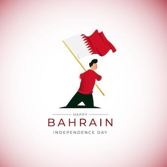 Nationale feestdag bahrein zwaaiende vlag banner ontwerpsjabloon