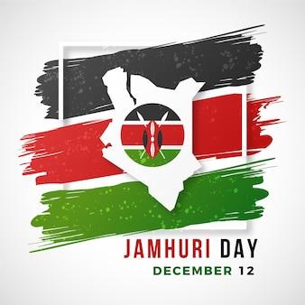 Nationale feestdag van kenia met vlag