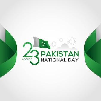 Nationale feestdag van pakistan op de resolutiedag van 23 maart
