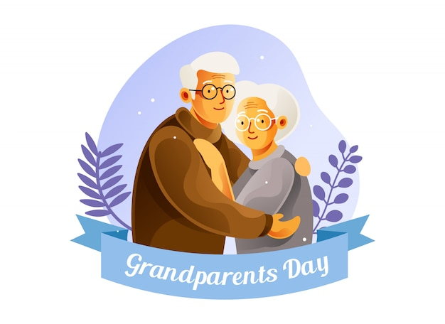 Nationale grootouders dag illustratie