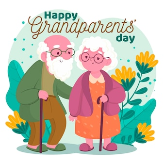 Nationale grootouders dag in plat design