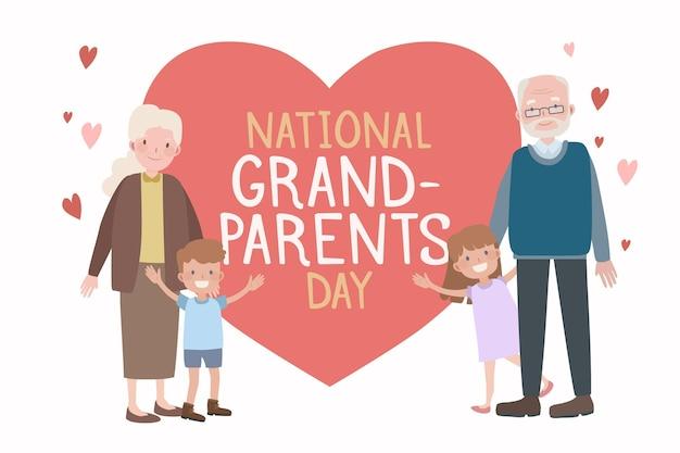 Nationale grootoudersdag met kleinkinderen