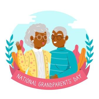 Nationale grootoudersdag met ouder echtpaar