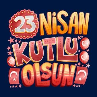 Nationale soevereiniteit nisan traditioneel evenement