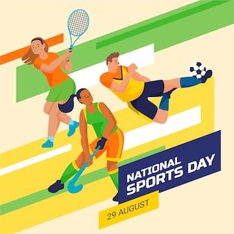 Nationale sportdag illustratie