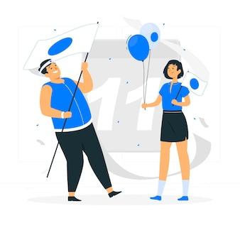 Nationale stichtingsdag concept illustratie