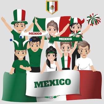 Nationale supporter van mexico