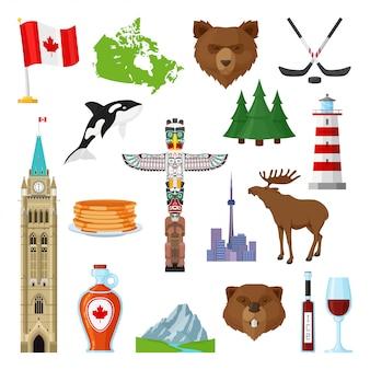 Nationale symbolen van canada ingesteld