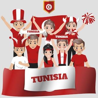 Nationale team supporter van tunesië