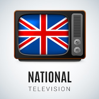 Nationale televisie illustratie