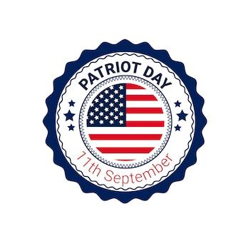Nationale usa patriot day vlag van de verenigde staten banner