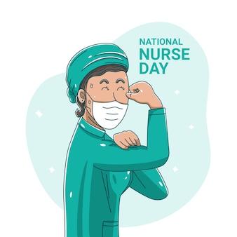Nationale verpleegster dag vieren