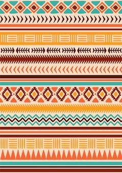 Native american tribal naadloze patroon.
