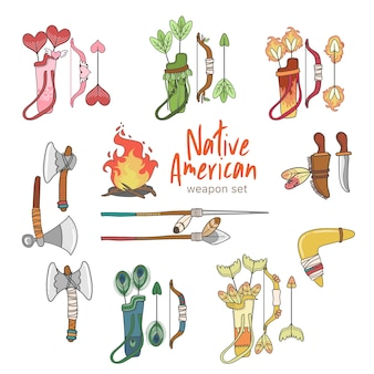 Native american weapon set