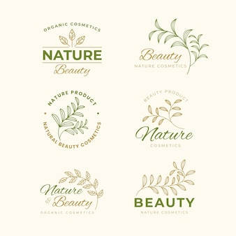 Nature cosmetica logo collectie