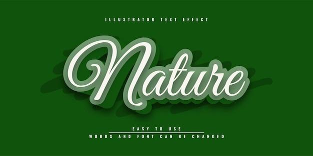 Nature illustrator bewerkbaar teksteffectontwerp