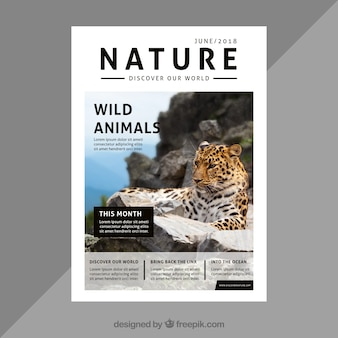 Nature magazine omslagsjabloon