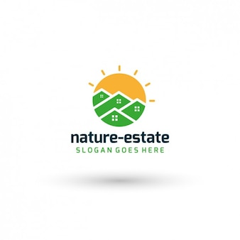 Nature real estate template logo