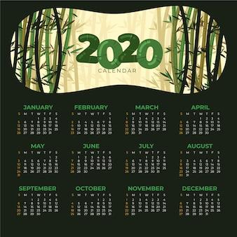 Natuur 2020 kalendersjabloon