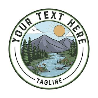 Natuur badge vintage. klaar voor gebruik voor elke behoefte, gemakkelijk om je tekst toe te voegen