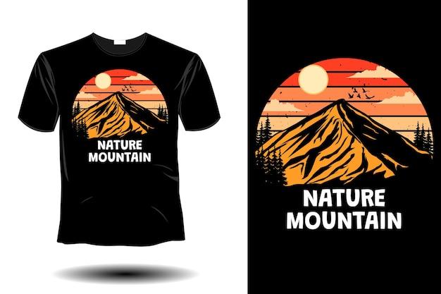 Natuur berg mockup retro vintage design