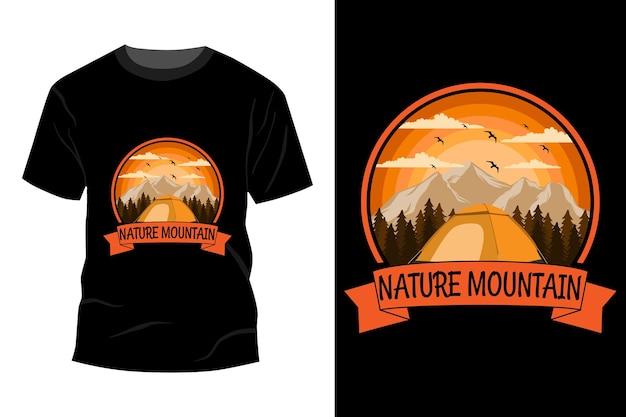 Natuur berg t-shirt mockup ontwerp vintage retro