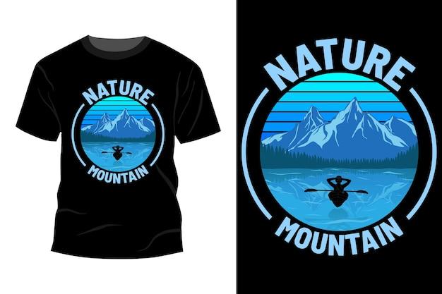 Natuur berg t-shirt ontwerp vintage retro