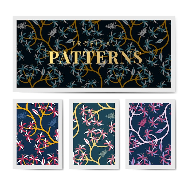 Natuur blad patroon ontwerpset