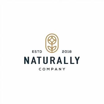 Natuur bloem logo
