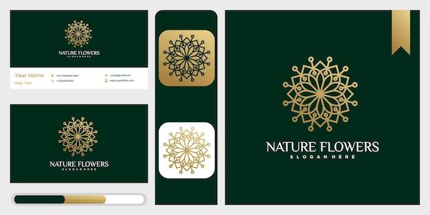 Natuur bloemen monogram logo sjabloon