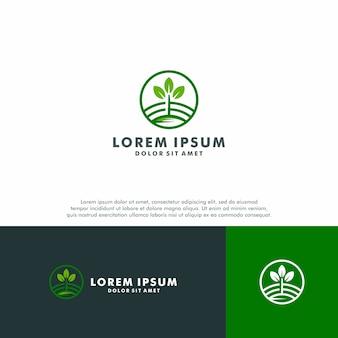 Natuur boerderij logo sjabloon