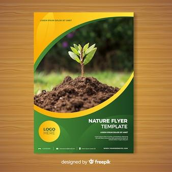 Natuur brochure sjabloon