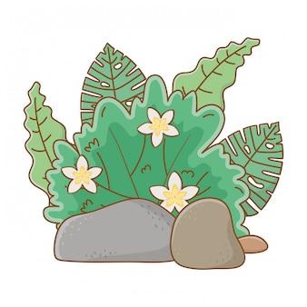Natuur buiten bush milieu cartoon