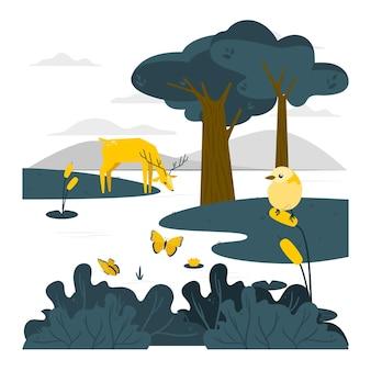 Natuur concept illustratie