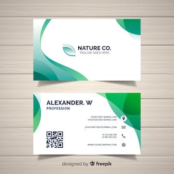 Natuur concept visitekaartje