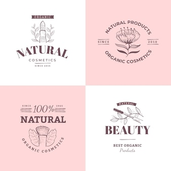 Natuur cosmetica logo-collectie
