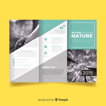 Natuur driebladige brochure