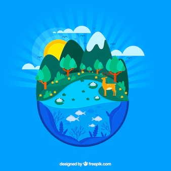 Natuur en ecosysteemconcept