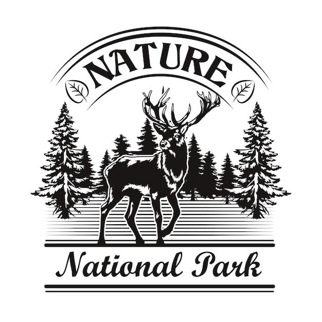 Natuur en park embleem