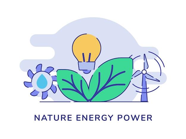 Natuur energie machtsconcept
