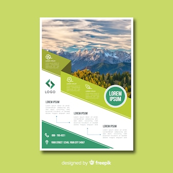 Natuur flyer-sjabloon met modern design