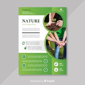 Natuur flyer sjabloon