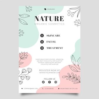 Natuur folder sjabloon