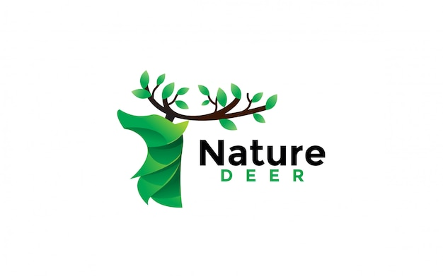 Natuur herten logo ontwerp pictogram illustratie