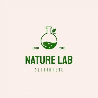 Natuur laboratorium logo ontwerp