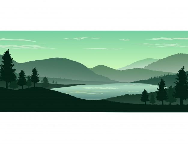Natuur landschap achtergrond
