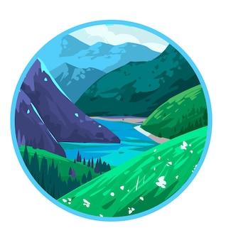 Natuur landschap. berglandschap.