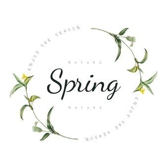 Natuur lente logo ontwerp vector