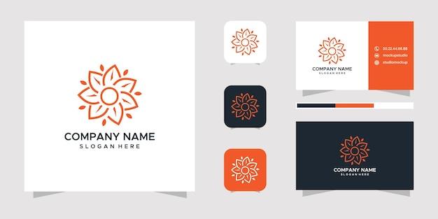 Natuur logo ontwerp en visitekaartje.
